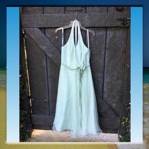 David's Bridal Dress, Light Green, Size 10